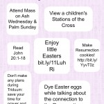Our Lenten Checklist