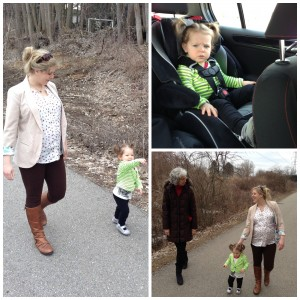 "a little walk with ""gramma gramma"" - or Mike's mom"