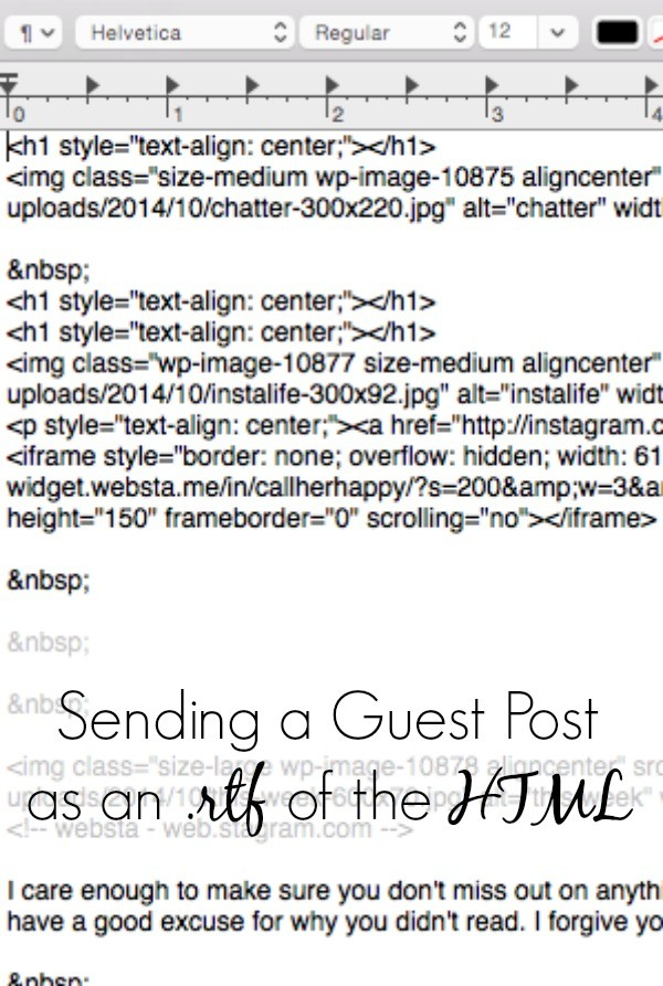 A great tip for beginning bloggers who would like to guest post. This is the easiest way to get your post to your host with the format still in tact. Stop sending Word documents and use this better method. | blog topics | blogging tips | blogging for beginners
