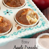If you've got a little motivation to get into the kitchen in the morning (I'm talking just slightly above cold cereal), try these easy pancake bites. Apple pancake muffins are fluffy like a German pancake, but individual sized for easier serving and eating. | muffins breakfast | pancakes recipe easy | apple muffins