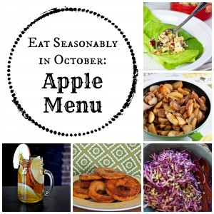 Eat Seasonably in October: Apple Menu from All She Cooks