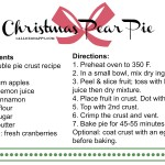 Gettin' Domestic with Christmas Pear Pie