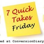7 Quick Takes vol. 20 Leah Darrow Edition