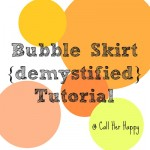 Bubble Skirt Tutorial