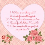 A Scavenger Hunt for Celebrating St. Valentine with a 2-Year-Old