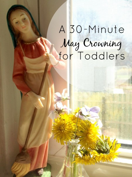 30 Minute May Crowning Craft for Toddlers. And a sneak peak into the behind the scenes proving you can do this too!