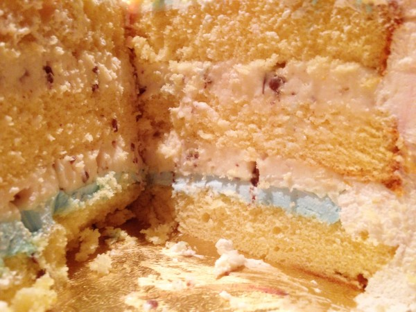 it's a boy...in a cassata cake