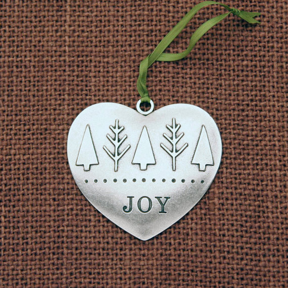 joy heart ornament