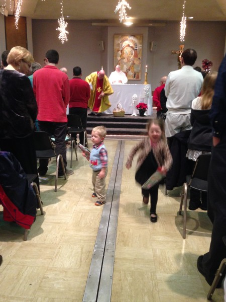 presents at Christmas Mass