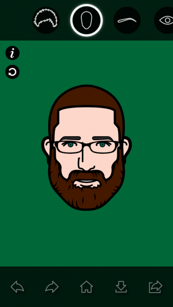 clearly our week was packed because I had time to update my cartoon icons of Mike on my phone
