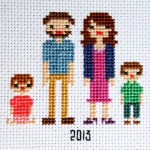 Family Time-Line in Cross Stitch