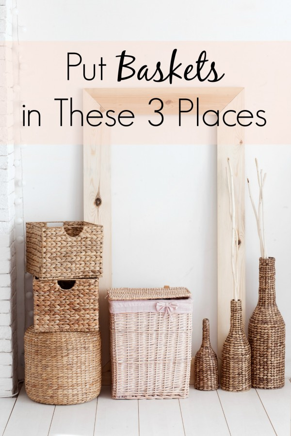 My best organization secret? Baskets. And, by putting them in these three places, you can keep your home clutter free. Seriously. Add this to your list of awesome life hacks and organization tips for the home. | clutter solutions | clutter organization | clutter control |