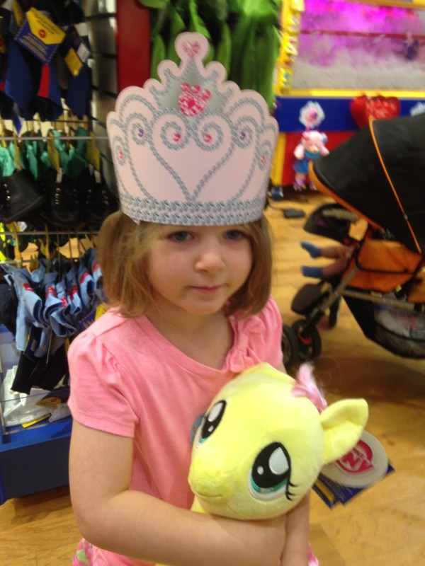 This girl is 4. And all she wanted was Build-a-Bear. Kidding. She wanted everything, but she got Build-a-Bear.