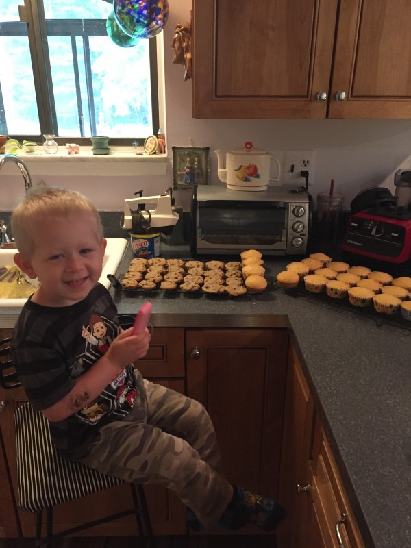 relegated to baking duties while we whooped it up